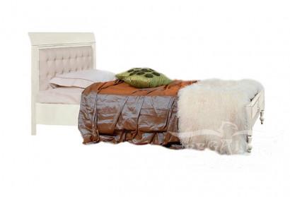 """Ліжко 120/140 з шкіряним узголів'ям """"Бурбон""""  (Bourbon)"""