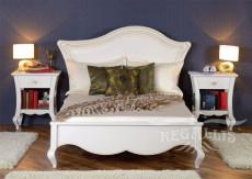 """Ліжко 120 з дерев'яним узголів'ям """"Капрі"""" (Capri)"""